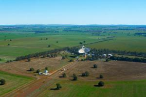 Aerial view of the Parkes telescope