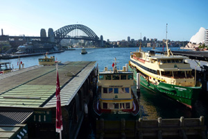 The ferries at Circular Quay