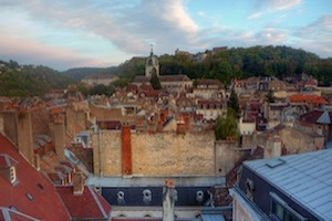 A view of the roofs of Besançon